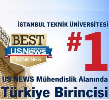 """""""İTÜ US NEWS Mühendislik Alanında Türkiye Birincisi"""""""