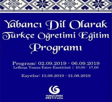 """""""Türkçe Öğreticiliği Eğitim Programı"""" Duyurusu"""