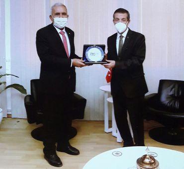 İTÜ-KKTC Heyeti, Dışişleri Bakanı ERTUĞRULOĞLU İle Görüştü